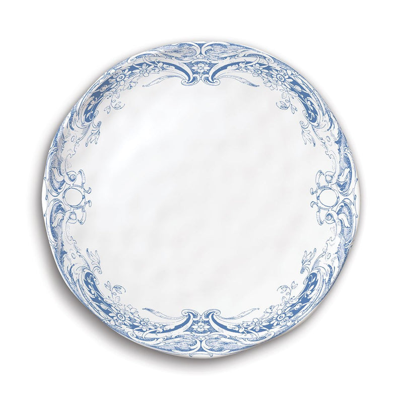 Michel Design Works Antique Scroll Melamine Accent Plate