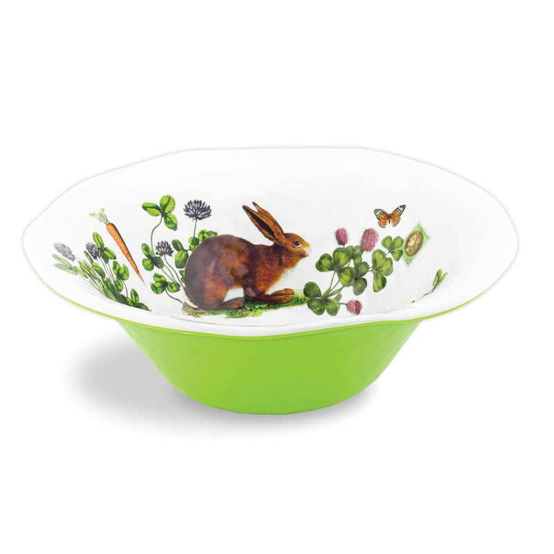 Michel Design Works Garden Bunny Melamine Large Bowl  | Putti Fine Furnishings