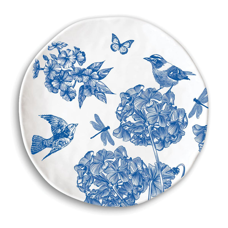 Michel Design Works Indigo Cotton Melamine Dinner Plate