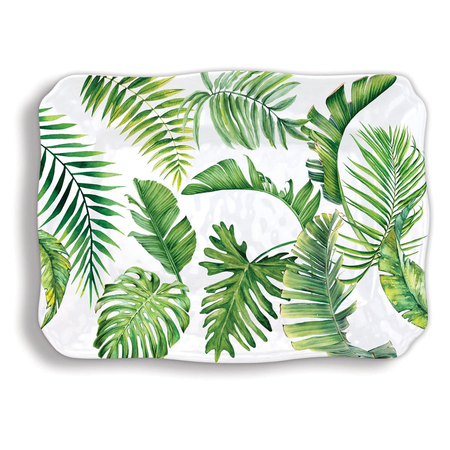 Michel Design Works Palm Large Melamine Platter