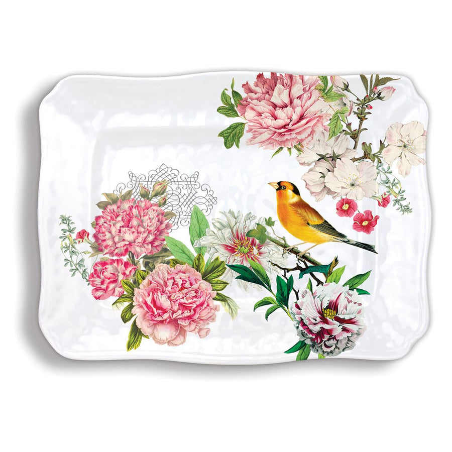 Michel Design Works Garden Melody Large Melamine Platter