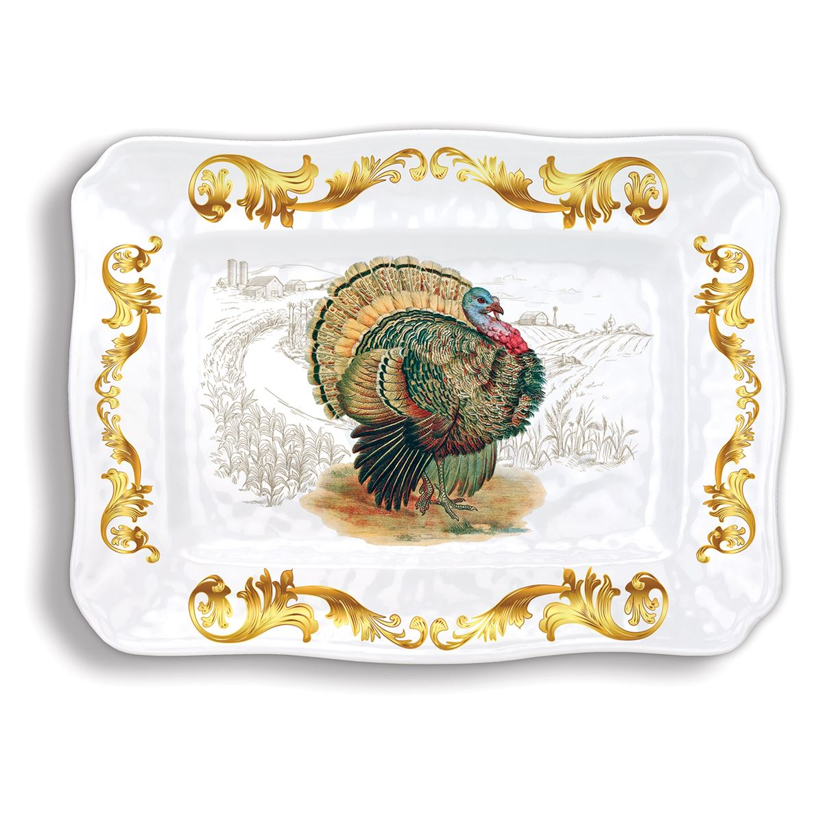 Michel Design Works Fall Harvest Large Melamine Platter | Putti Thanksgiving