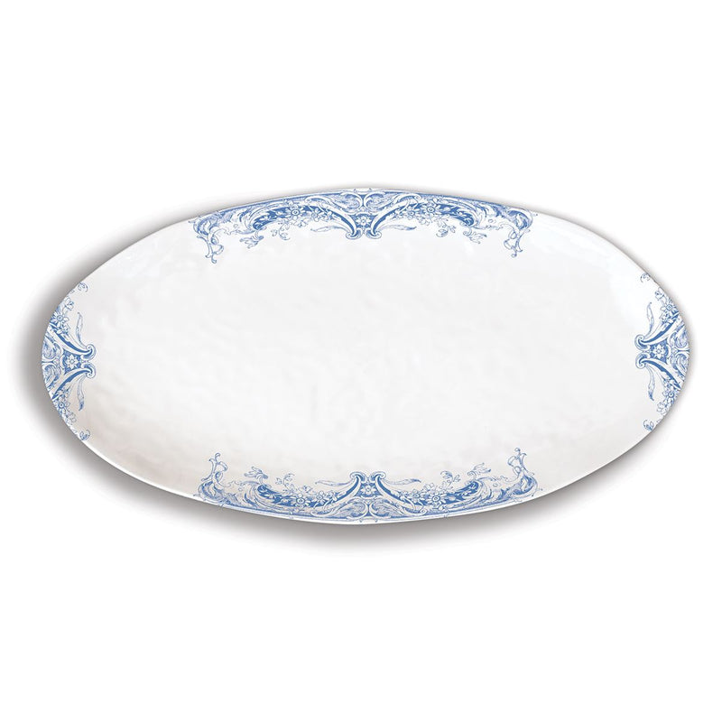 Michel Design Works Antique Scroll Oval Melamine Platter
