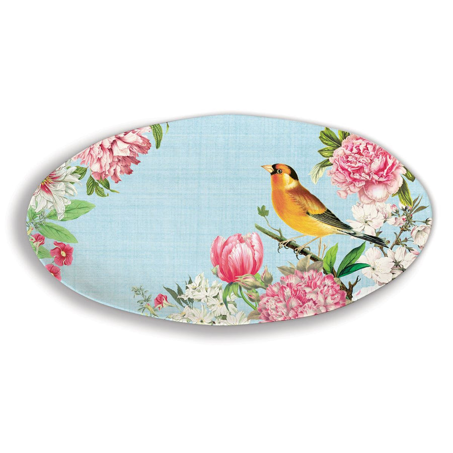 Michel Design Works Garden Melody Oval Melamine Platter