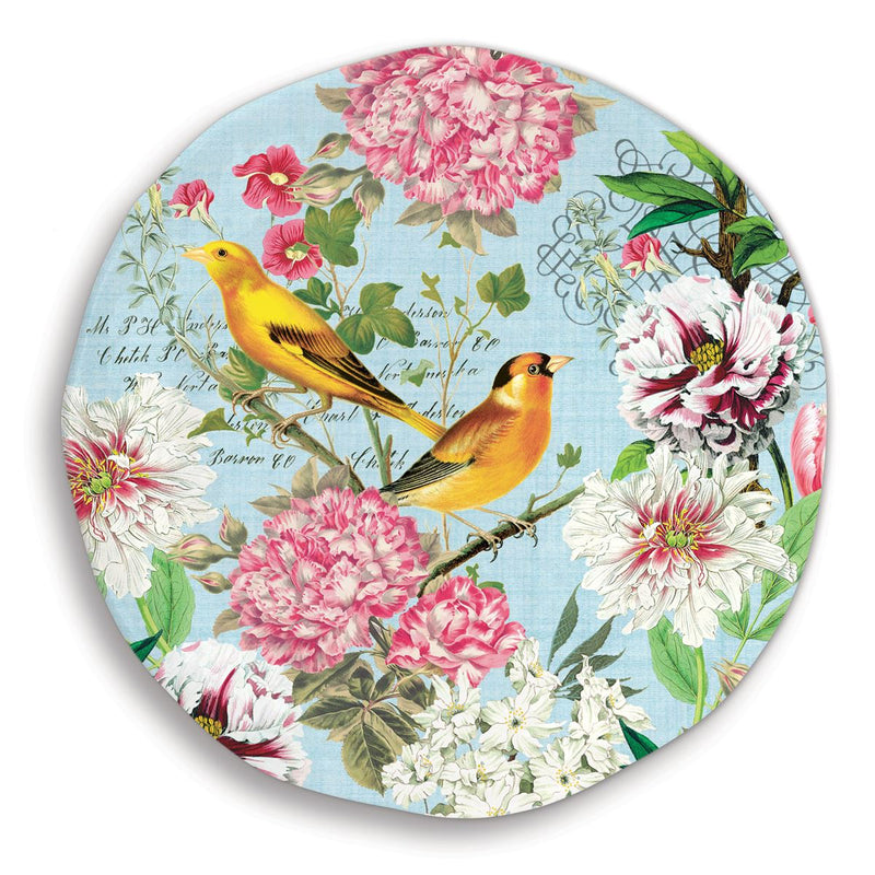 Michel Design Works Garden Melody Large Round Melamine Platter | Putti Fine Furnishings Canada
