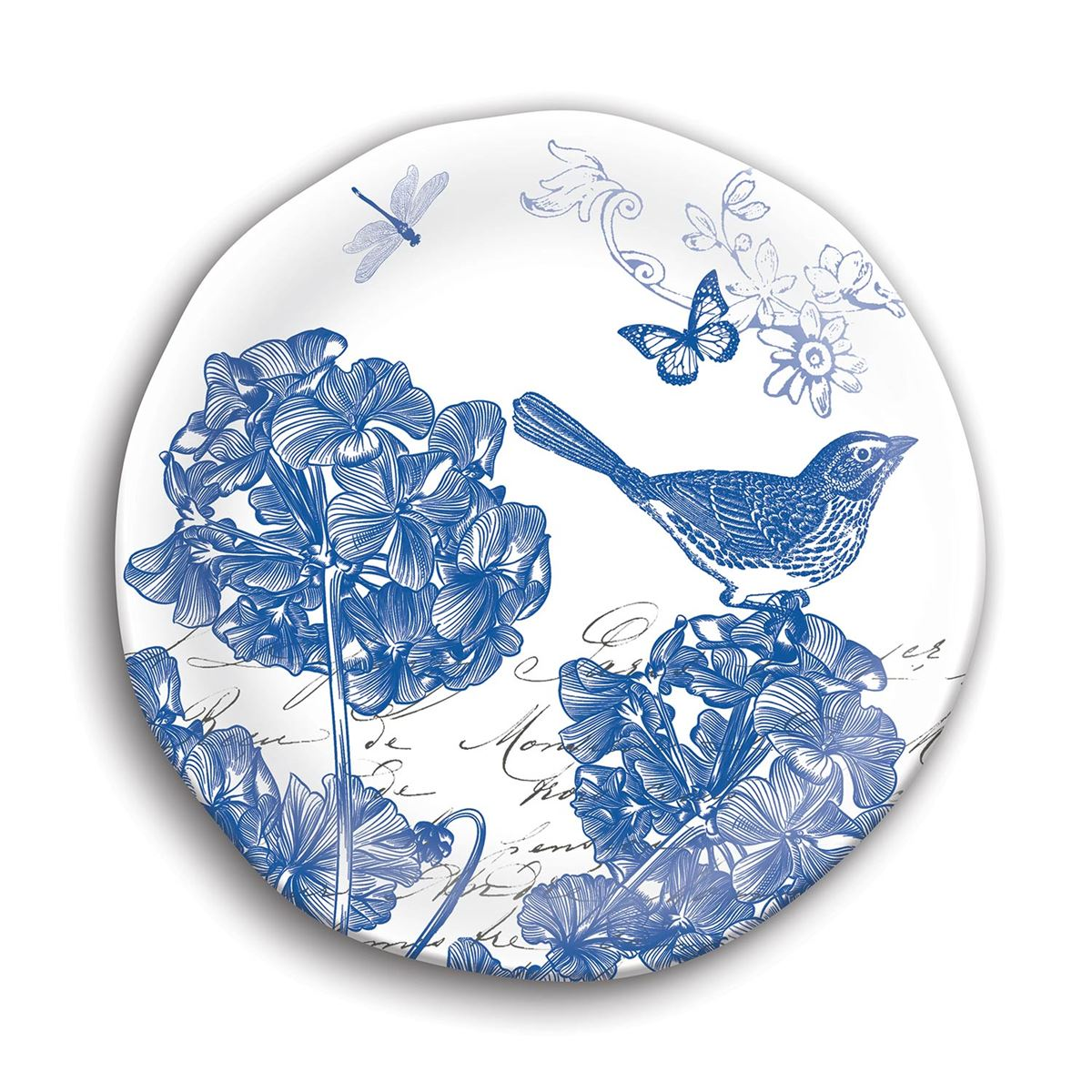 Michel Design Works Indigo Cotton Melamine Accent Plate