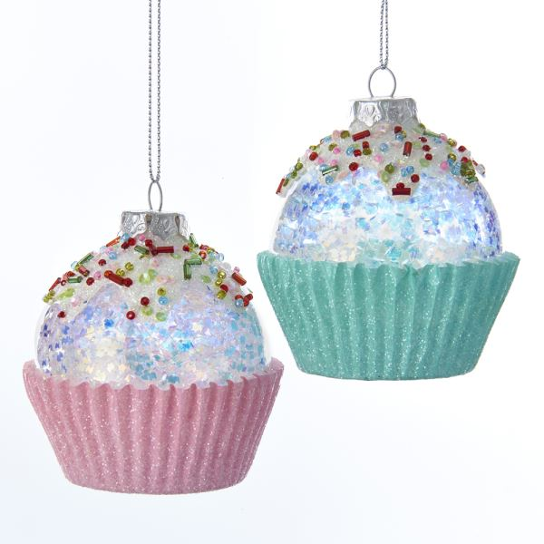 Kurt Adler Glass Candy Cupcake Ornaments | Putti Christmas
