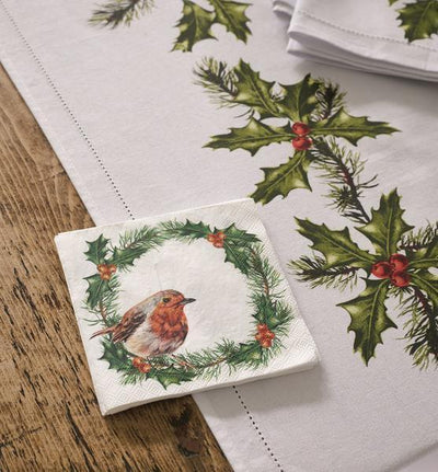 Botanical Robin Cocktail Paper Napkin | Putti Celebrations Canada