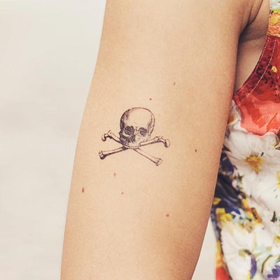 Tattly Temporary Tattoos - Cartolina Skull, TTT- Tattly Temporary Tattoos, Putti Fine Furnishings