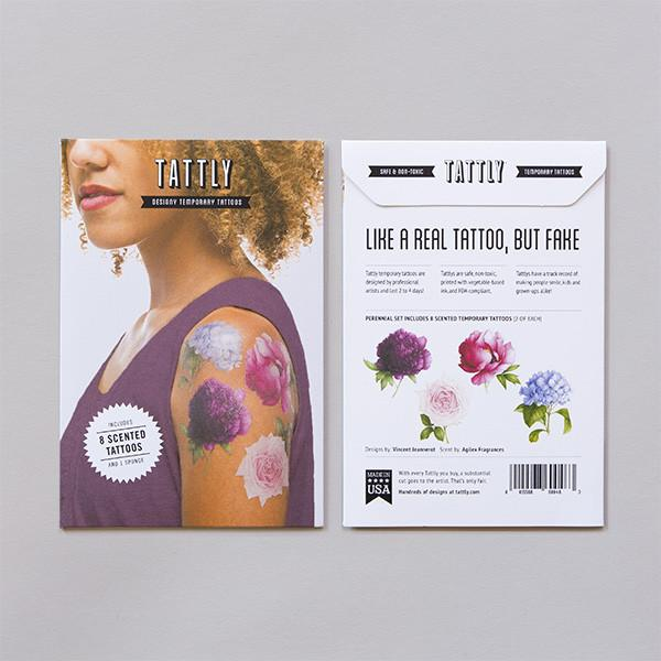 Tattly Temporary Tattoos - Scented Perennial Set, TTT- Tattly Temporary Tattoos, Putti Fine Furnishings