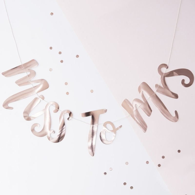 """Miss to Mrs"" Rose Gold Garland"