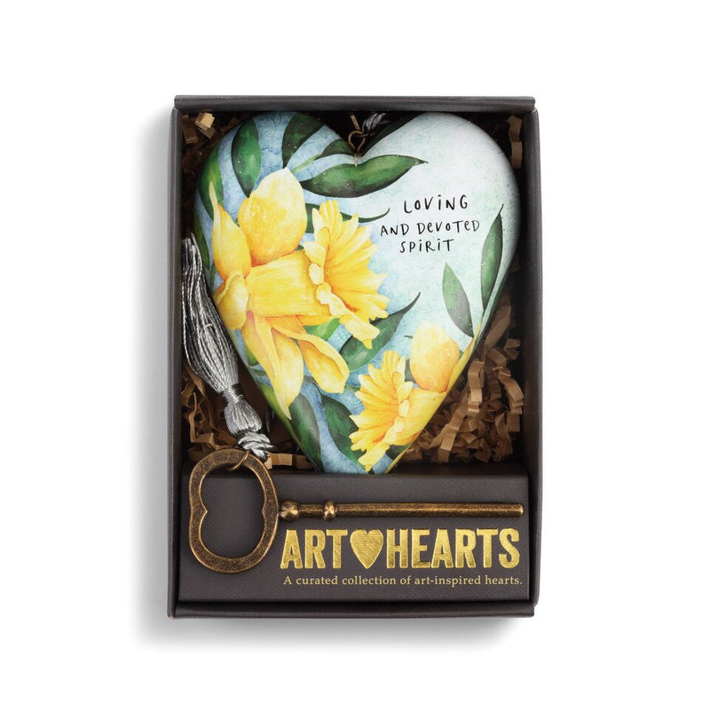 "Demdaco ""March"" Daffodil Birth Flower Art Heart 