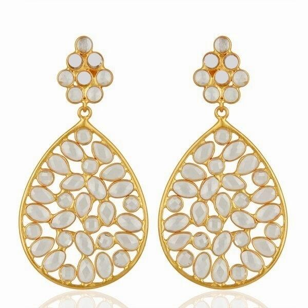 Valentine Rouge - Letta Gold Earrings