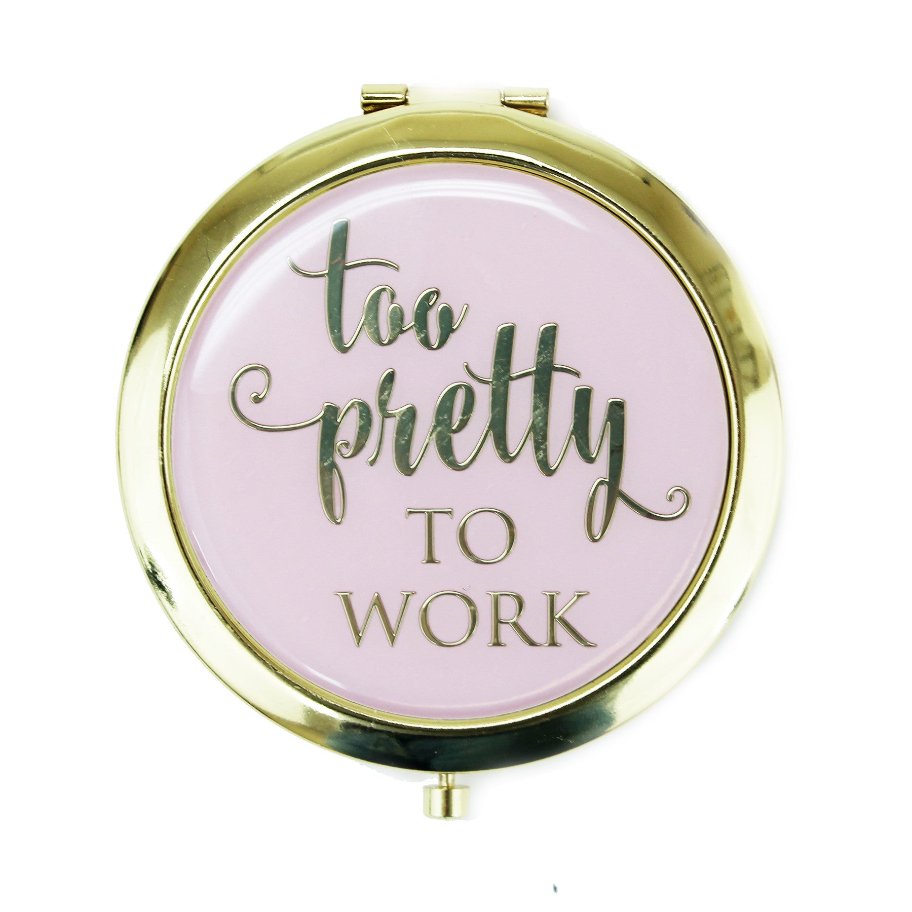 """Too pretty to work"" Compact, PG-Premier Gift, Putti Fine Furnishings"