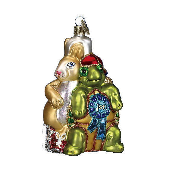Old World Christmas Tortoise and Hare Glass Christmas Ornament -  Christmas - Old World Christmas - Putti Fine Furnishings Toronto Canada