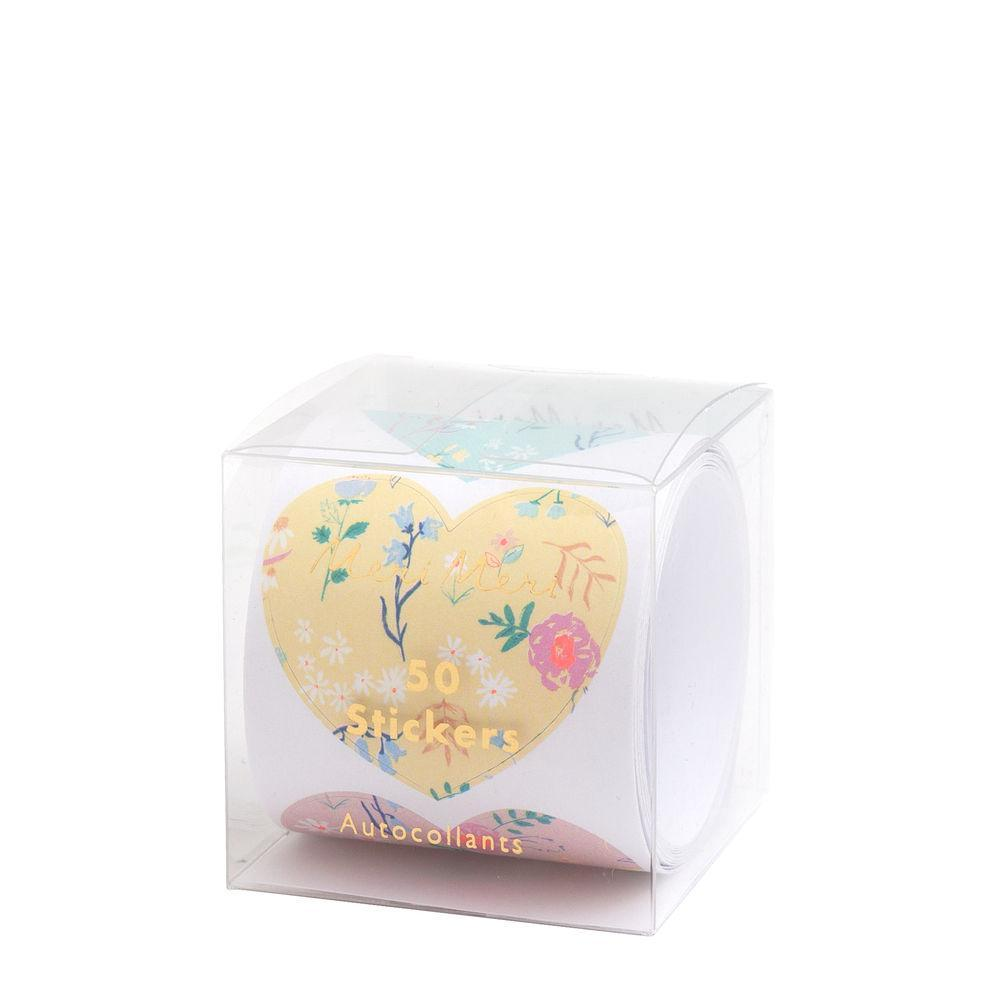 Meri Meri Wildflower Heart Sticker Roll | Le Petite Putti