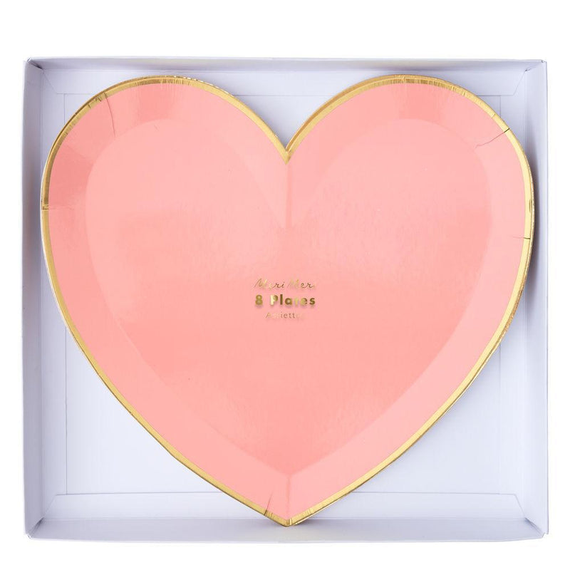 Meri Meri Party Palette Heart Plates - Large | Le Petite Putti