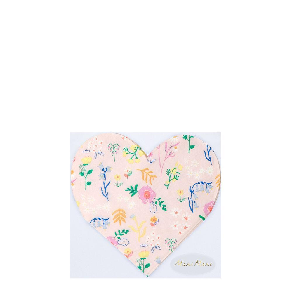 Meri Meri Wildflower Heart Napkins - Small | Le Petite Putti