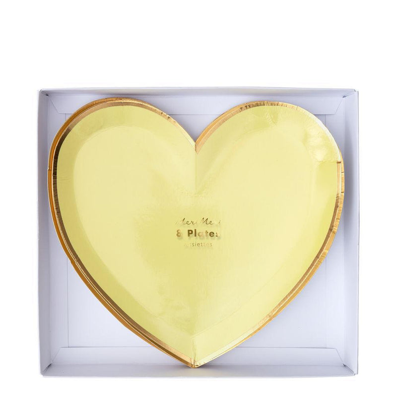 Meri Meri Party Palette Heart Plates - Small | Le Petite Putti