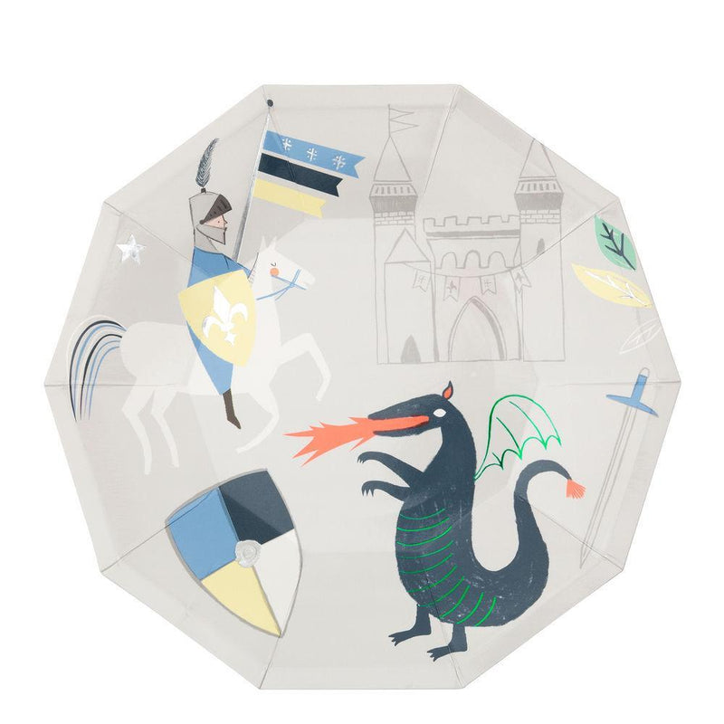 Meri Meri Dragon Knights Large Plates | Le Petite Putti Party Celebrations