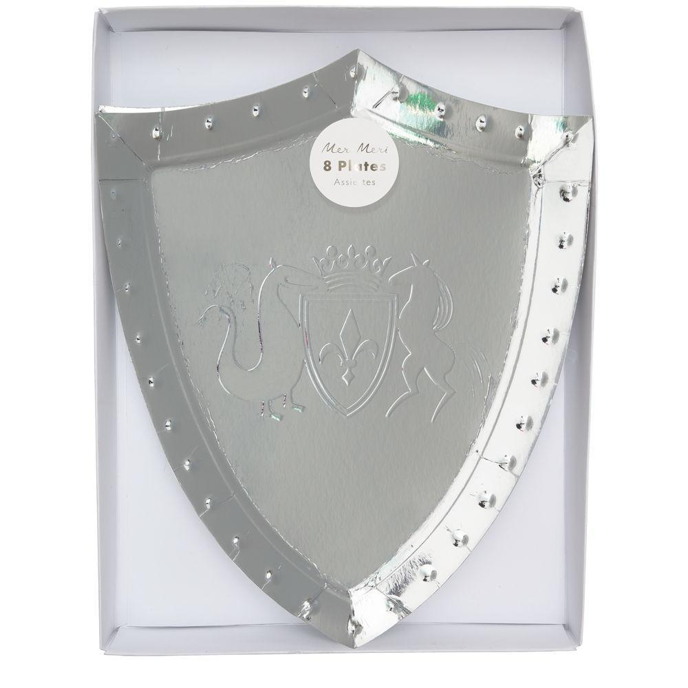 Meri Meri Dragon Knights Shield Plates | Le Petite Putti Party Celebrations
