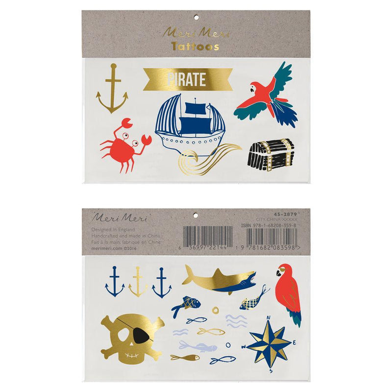Meri Meri Pirates Bounty Tattoos | Putti Party Supplies