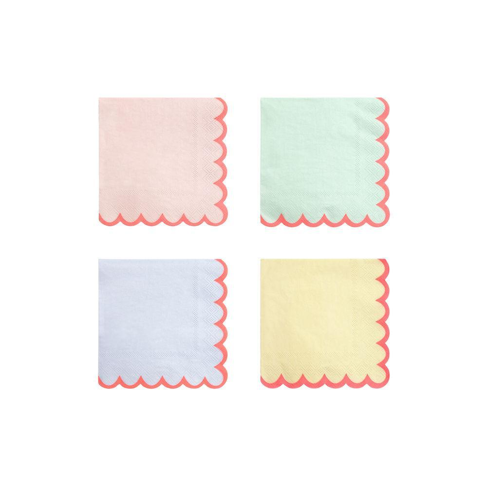 Meri Meri Pastel Neon Edge Small Napkins | Le Petite Putti Celebrations