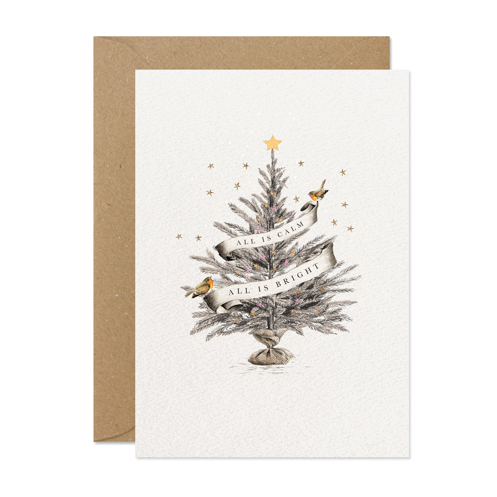 "Stephanie Davies ""Calm & Bright"" Christmas Tree Christmas Card 