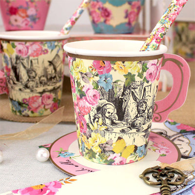 Truly Alice Whimsical Cup & Saucers -  Party Supplies - Talking Tables - Putti Fine Furnishings Toronto Canada - 6