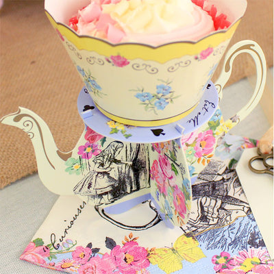 Truly Alice Teapot Cake Stands -  Party Supplies - Talking Tables - Putti Fine Furnishings Toronto Canada - 5