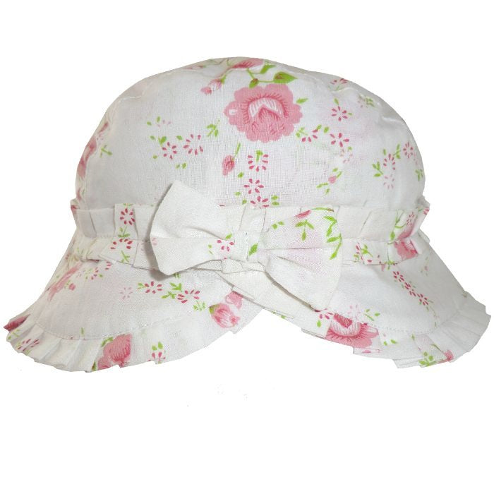 Rose Floral Ruffled Hat, PC-Powell Craft Uk, Putti Fine Furnishings