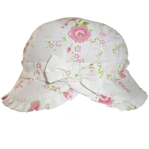 Rose Floral Ruffled Hat-Hats-PC-Powell Craft Uk-Putti Fine Furnishings