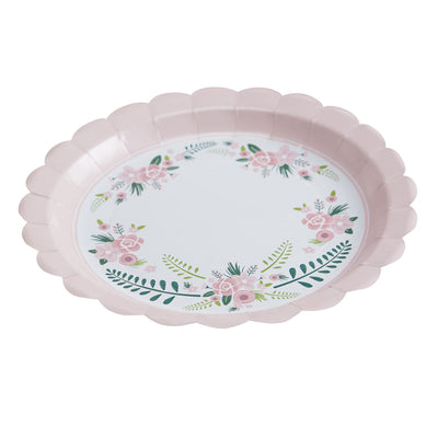 """Floral Fancy"" Paper Plates, GR-Ginger Ray UK, Putti Fine Furnishings"