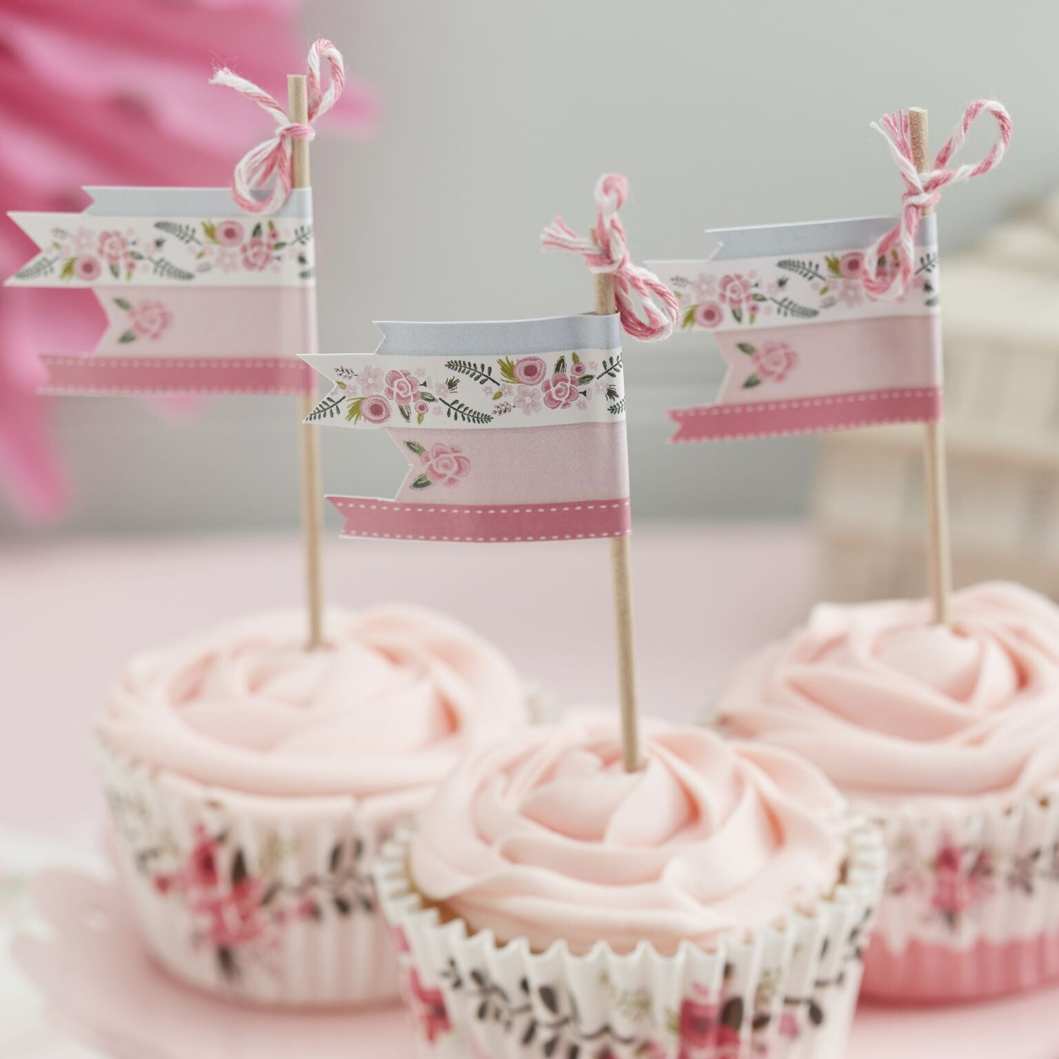 """Floral Fancy"" Cupcake Picks, GR-Ginger Ray UK, Putti Fine Furnishings"