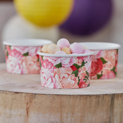 """Boho"" Floral - Treat Cup -  Party Supplies - Ginger Ray UK - Putti Fine Furnishings Toronto Canada - 2"