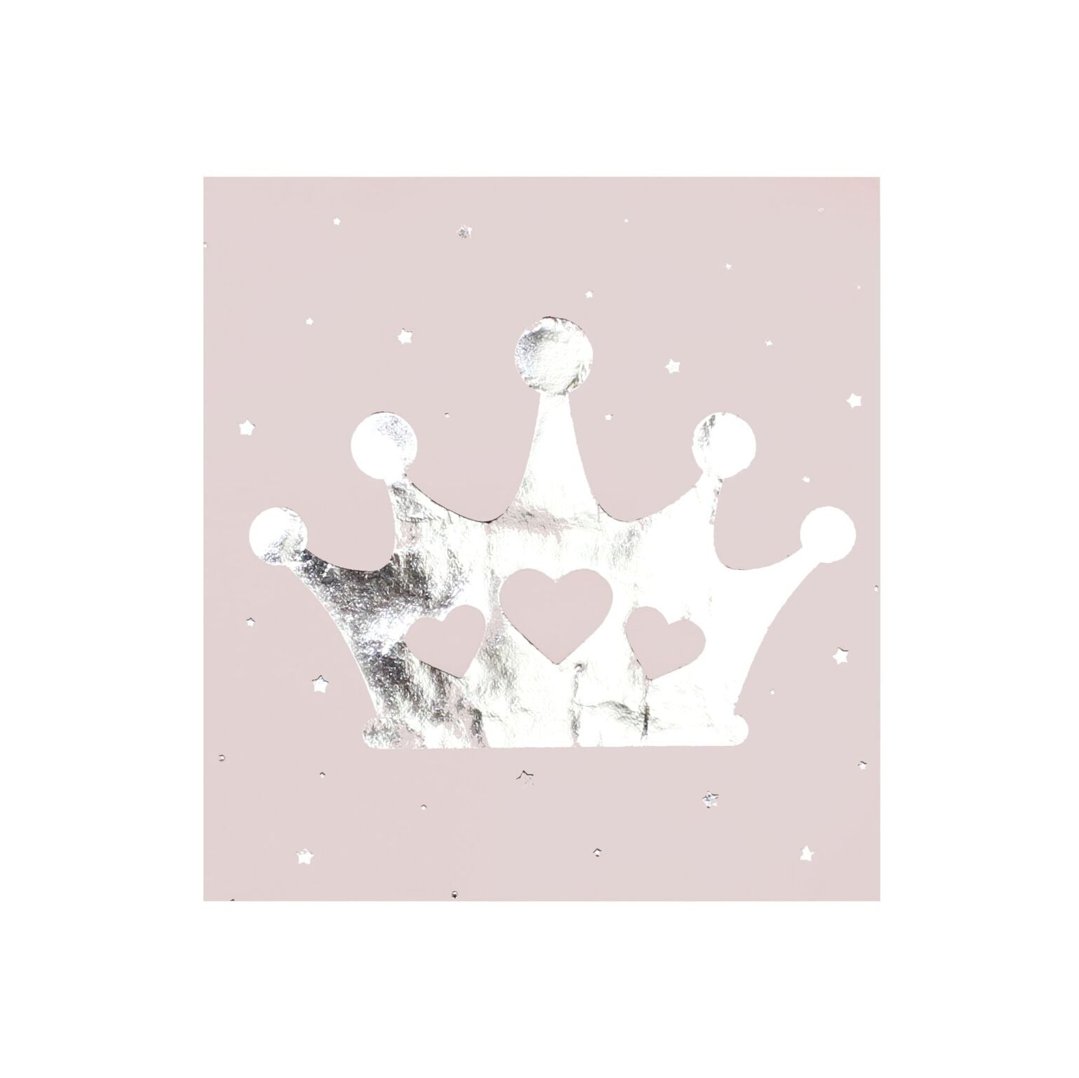 """Princess Perfection"" Silver Crown Paper Napkin - Lunch"