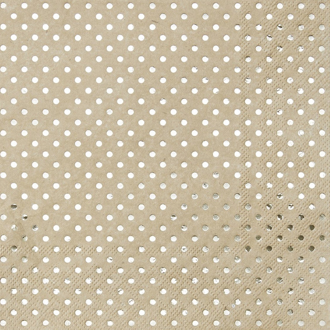 Kraft Gold Foil Dot - Paper Lunch Napkins, GR-Ginger Ray UK, Putti Fine Furnishings
