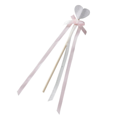 """Princess Perfection"" Pink And Silver Glitter Heart Princess Party Wands, GR-Ginger Ray UK, Putti Fine Furnishings"