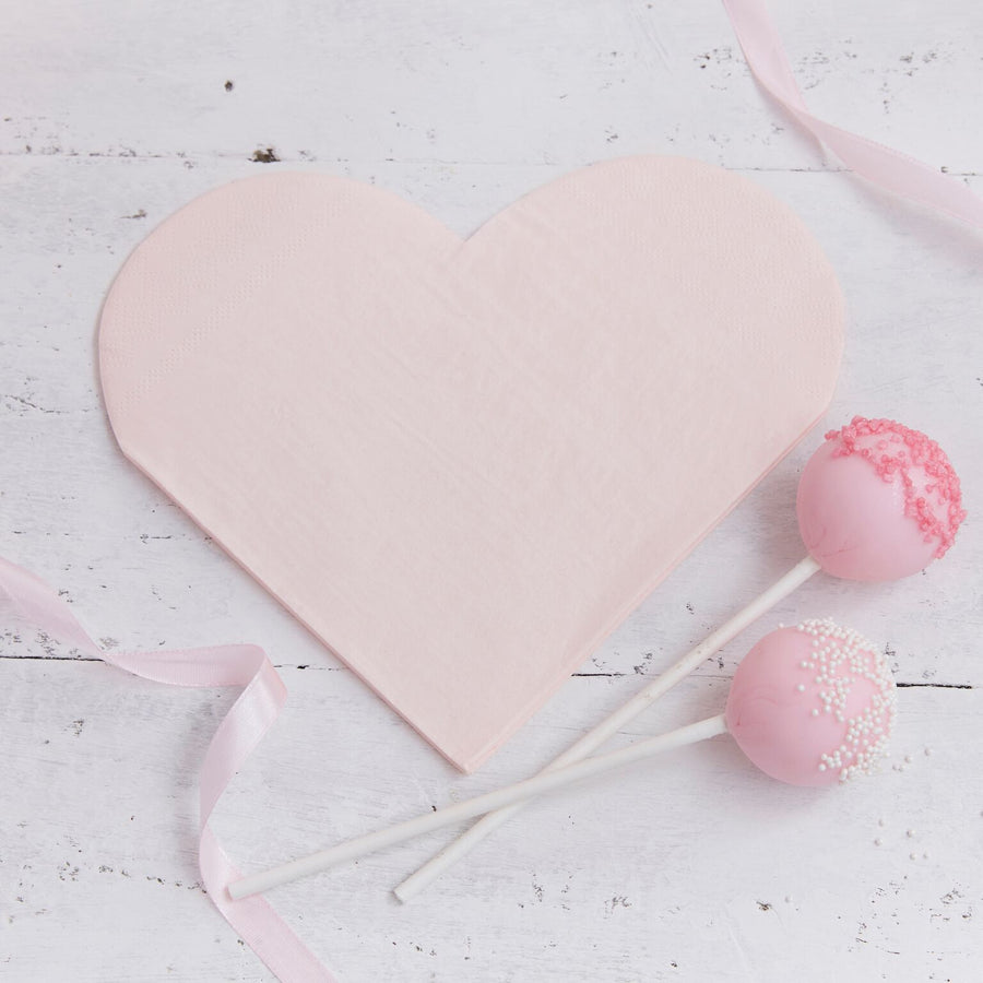 """Princess Perfection"" Pink Heart Paper Napkin, GR-Ginger Ray UK, Putti Fine Furnishings"