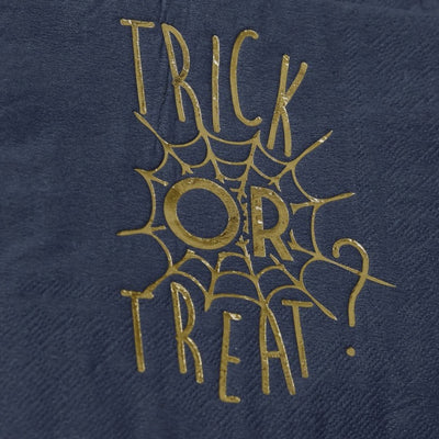 "Gold Foiled ""Trick or Treat"" Halloween Napkins, GR-Ginger Ray UK, Putti Fine Furnishings"