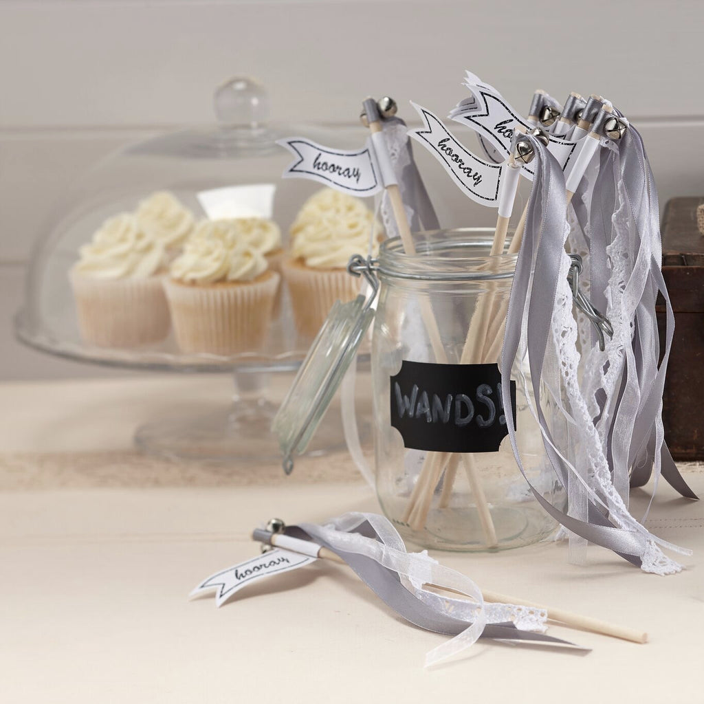 """A Vintage Affair"" Wedding Wands - Silver-Party Supplies-GR-Ginger Ray UK-Putti Fine Furnishings"