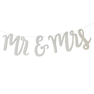 Mr & Mrs Wooden Bunting, GR-Ginger Ray UK, Putti Fine Furnishings