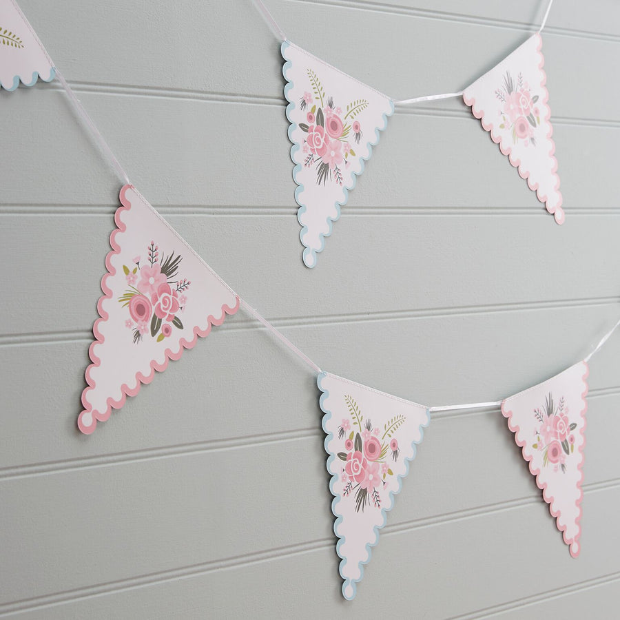 """Floral Fancy"" Paper Bunting, GR-Ginger Ray UK, Putti Fine Furnishings"