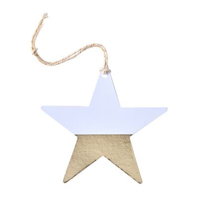 Dipped Foil Star Gift Tags - Gold -  Party Supplies - GR-Ginger Ray UK - Putti Fine Furnishings Toronto Canada - 1