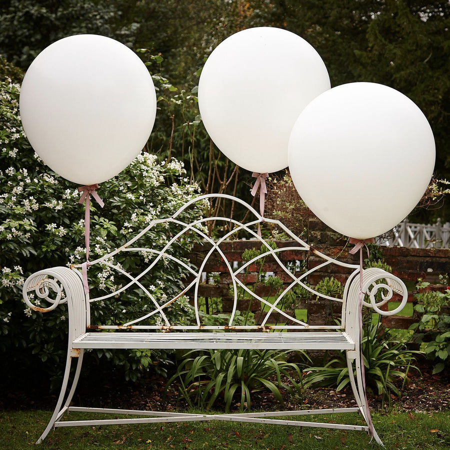 """A Vintage Affair"" Huge Balloons - White"