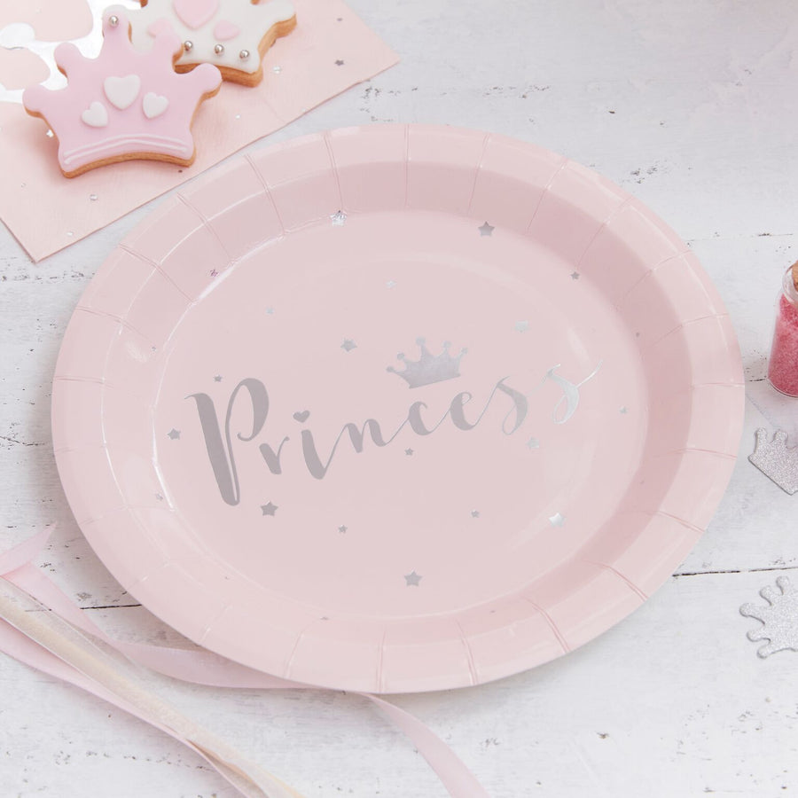 """Princess Perfection"" Paper Plates, GR-Ginger Ray UK, Putti Fine Furnishings"