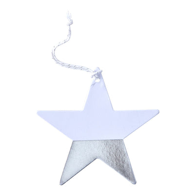 Dipped Foil Star Gift Tags - Silver -  Party Supplies - GR-Ginger Ray UK - Putti Fine Furnishings Toronto Canada - 1