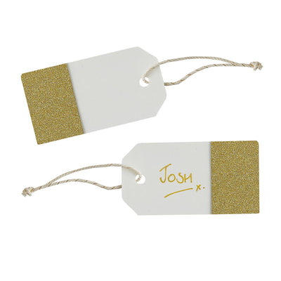 Gold Glitter Ivory - Tags, GR-Ginger Ray UK, Putti Fine Furnishings