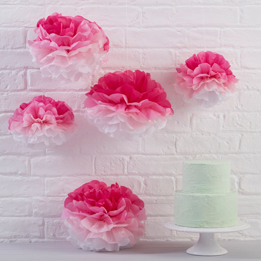 Pink Ombre Tissue Pom Pom, GR-Ginger Ray UK, Putti Fine Furnishings