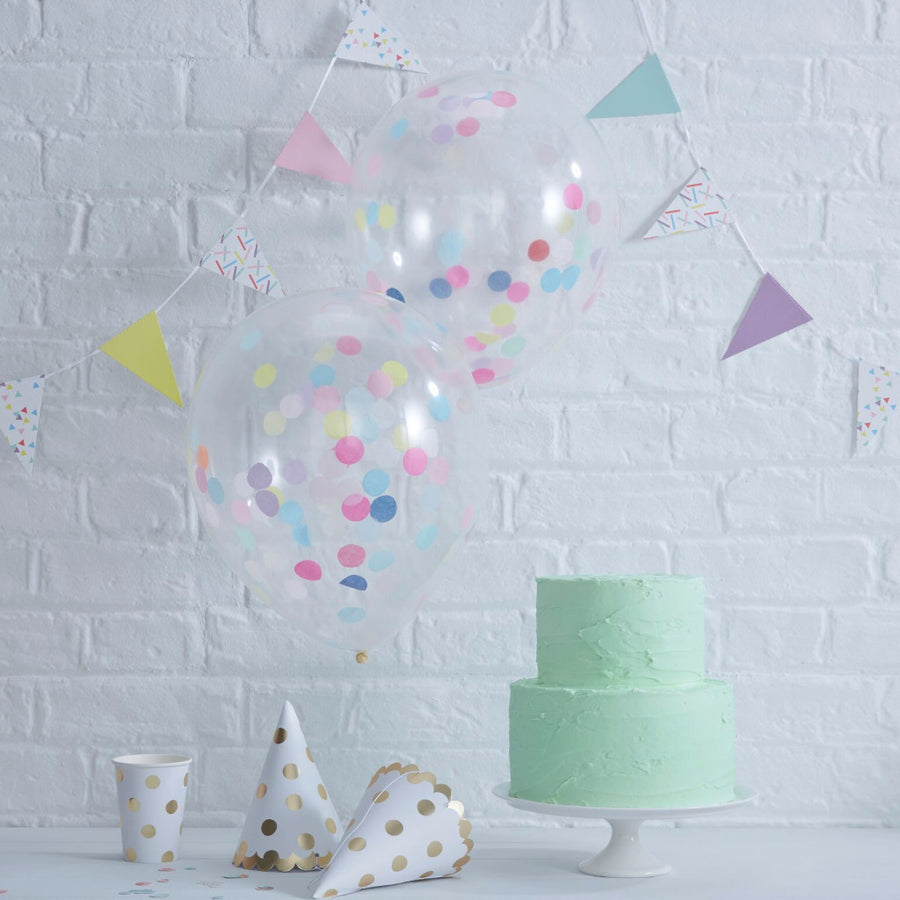 Multi Confetti Filled Balloons